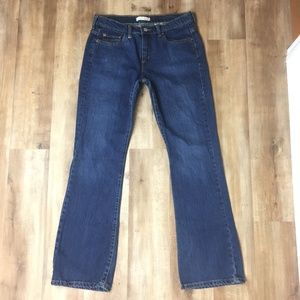 Levi's 515 Boot Cut Denim Blue Jeans 10